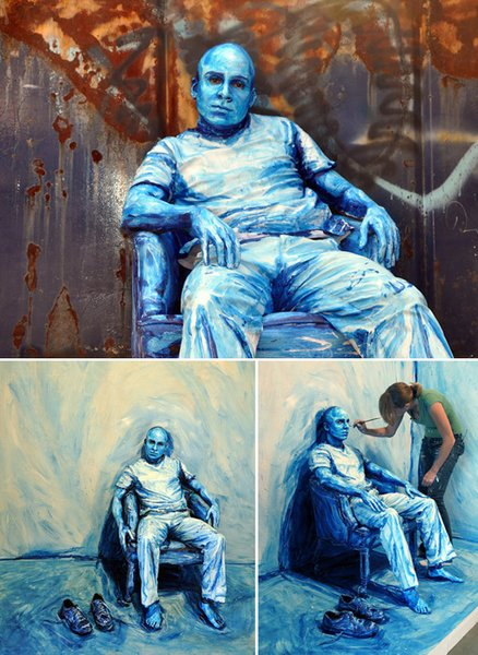 "Alexa Meade's ""painted people."""