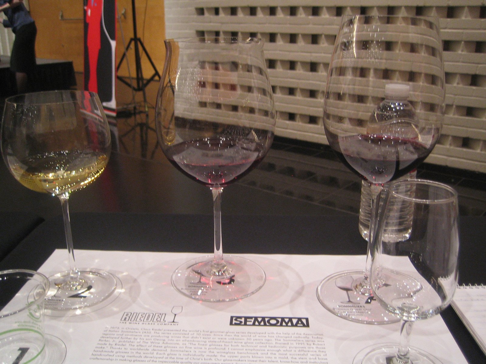 The stars of the show: (from left) Montrachet, Grand Cru Burgundy, Grand Cru Bordeaux.  Photo 5 of 5 in Wine Tasting with Georg Riedel