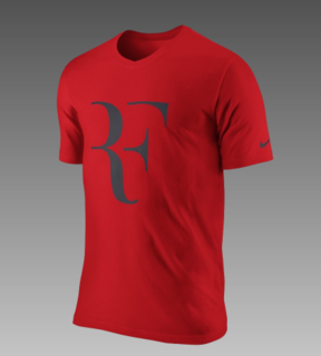 You can get this tee, with the Federer logo, on Nike's website right now. I even think it's on sale.