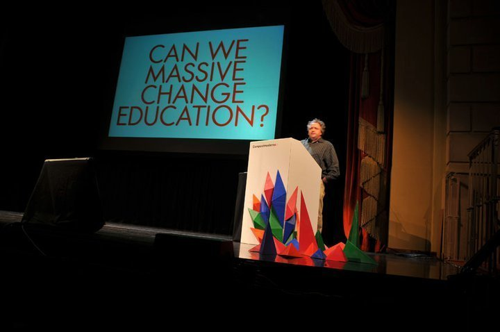 """Education was a key focus of designer Bruce Mau's talk. Photo courtesy Compostmodern.  Search """"증표 노래방혁신도시출장안양(TALK:Za31)"""" from Compostmodern in Review"""