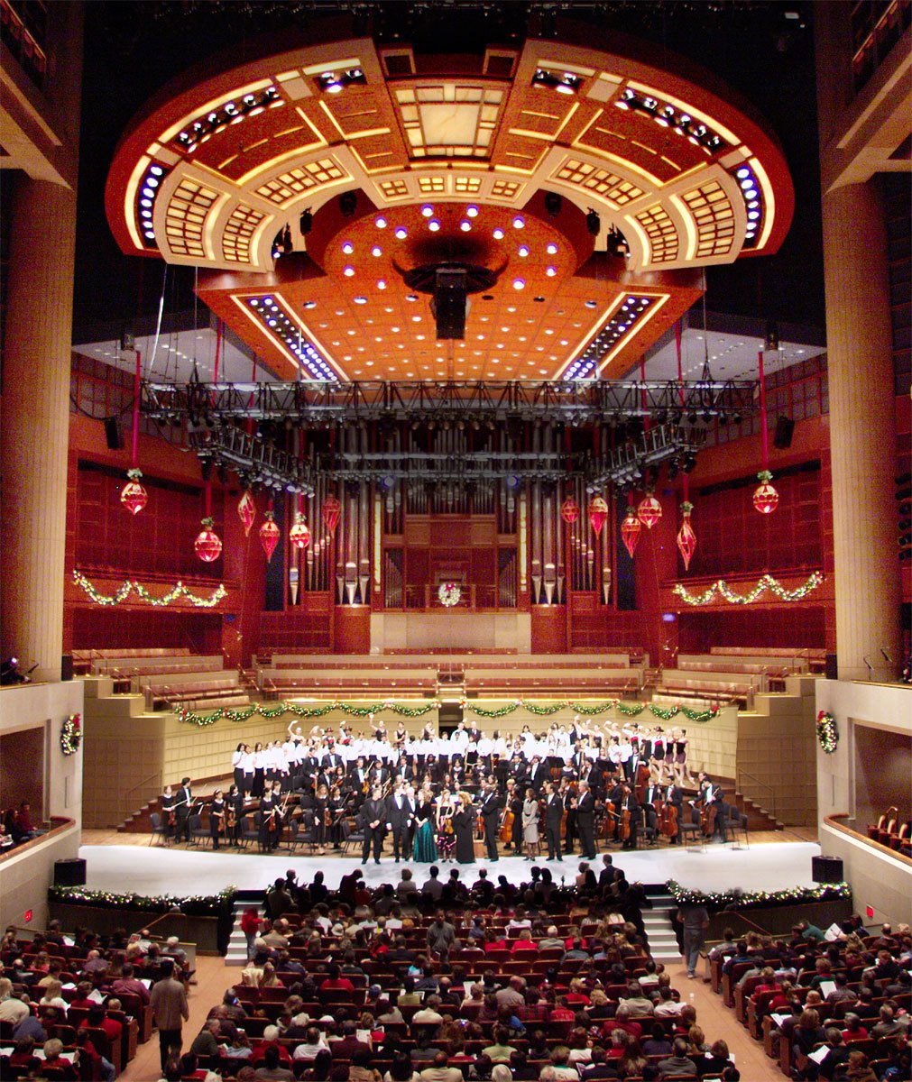 Here's IM Pei's Meyerson Symphony Center done up for the holidays.  Photo 2 of 4 in Midgette on World's Best Concert Halls