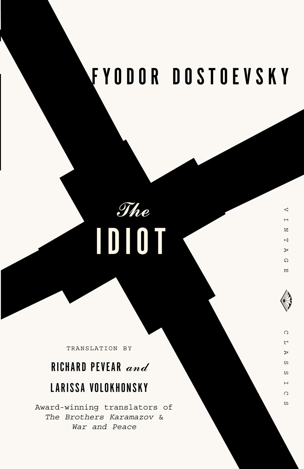 The Idiot was the first of six Dostoevsky jackets Mendelsund was asked to design.  Dostoyevsky, Meet Mendelsund by Aaron Britt
