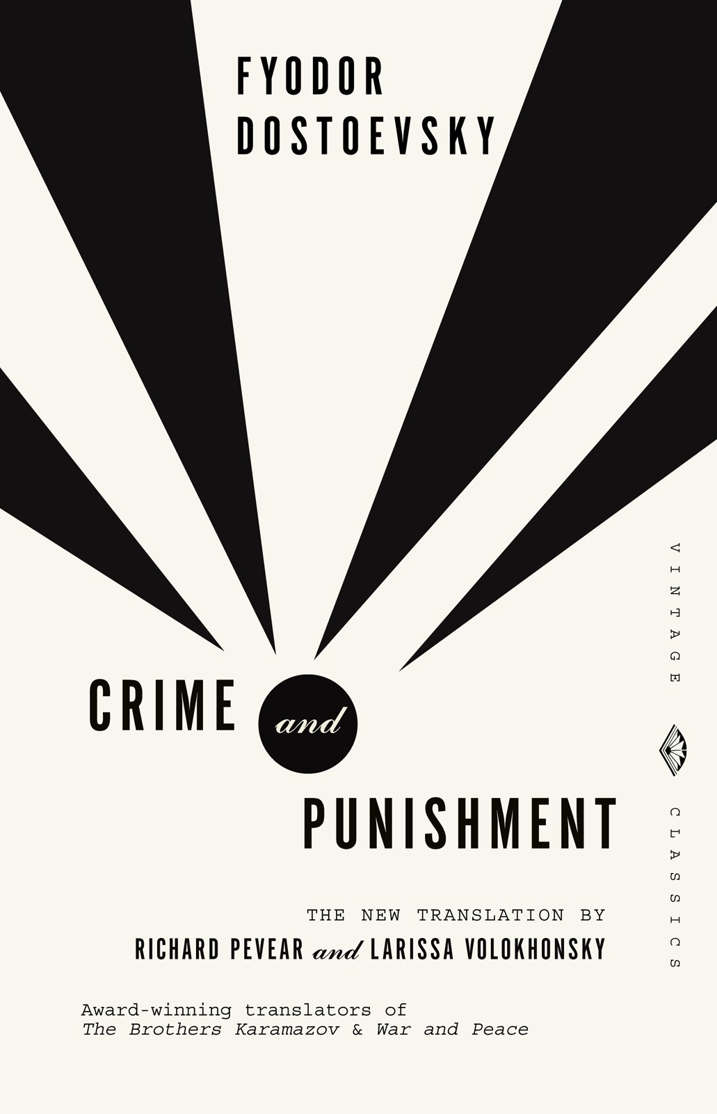 Crime and Punishment is the biggie from the Dostoyevsky canon that Mendelsund designed. He lamented that he's not gotten a crack at the Brothers Karamazov.  Dostoyevsky, Meet Mendelsund by Aaron Britt