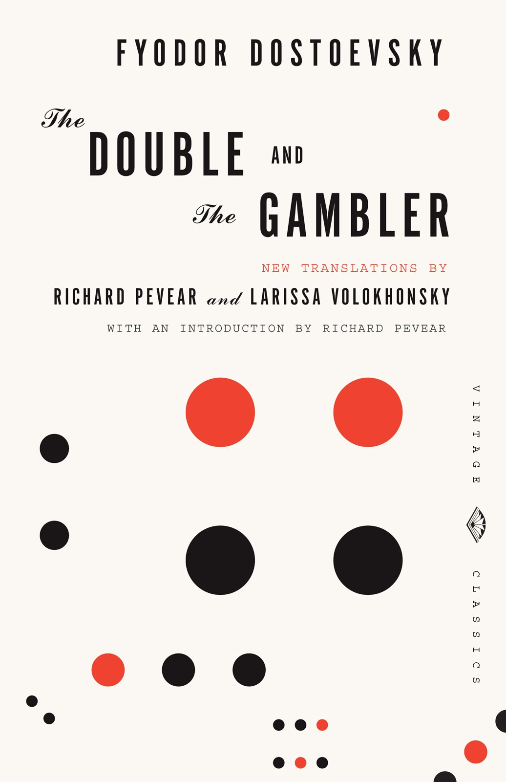 The Double and The Gambler get a bit of color, which adds a new element to the sextet of jackets.  Dostoyevsky, Meet Mendelsund by Aaron Britt