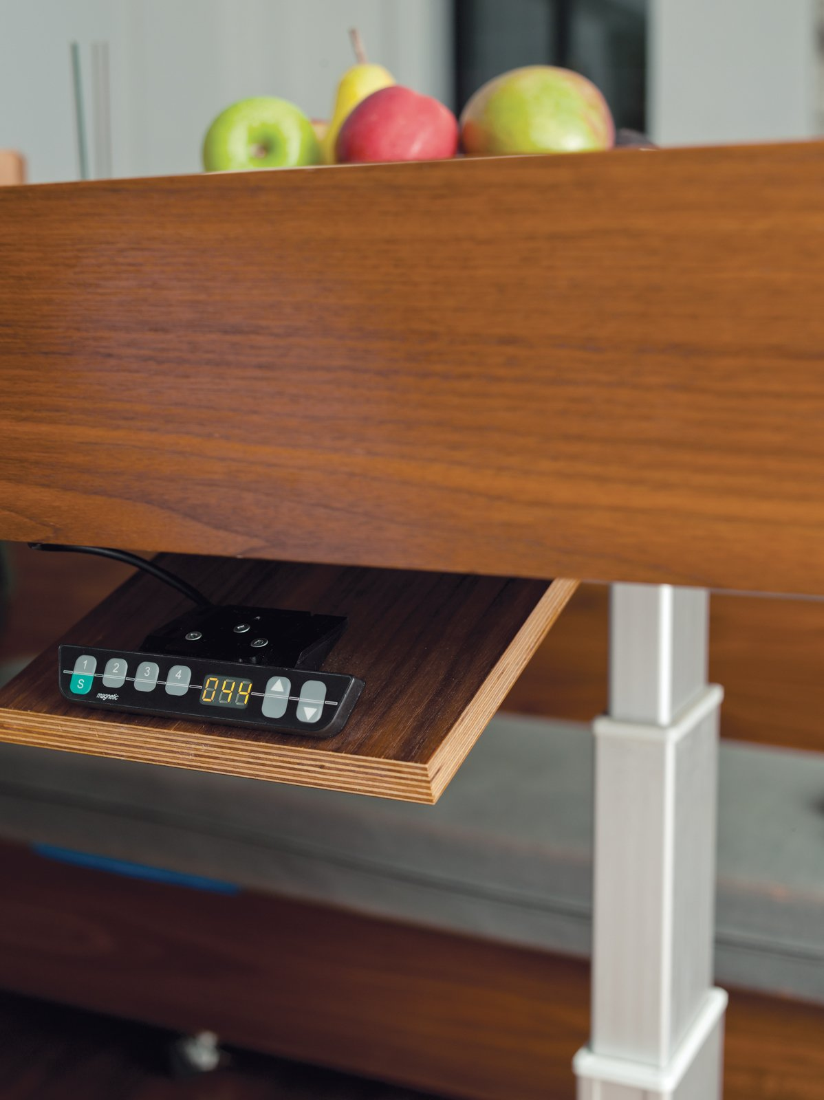 The table's hydraulic controls and hidden drawers.  Photo 8 of 14 in Stow Aways