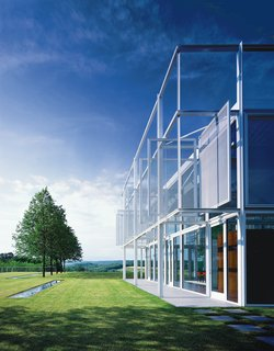 The glass and white-painted steel Taghkanic House was Phifer's first big commission.