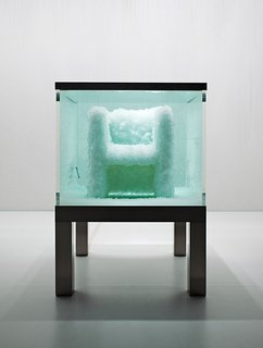 """Second Nature"" (2008) is a chair ""grown"" from crystals in a transparent tank."