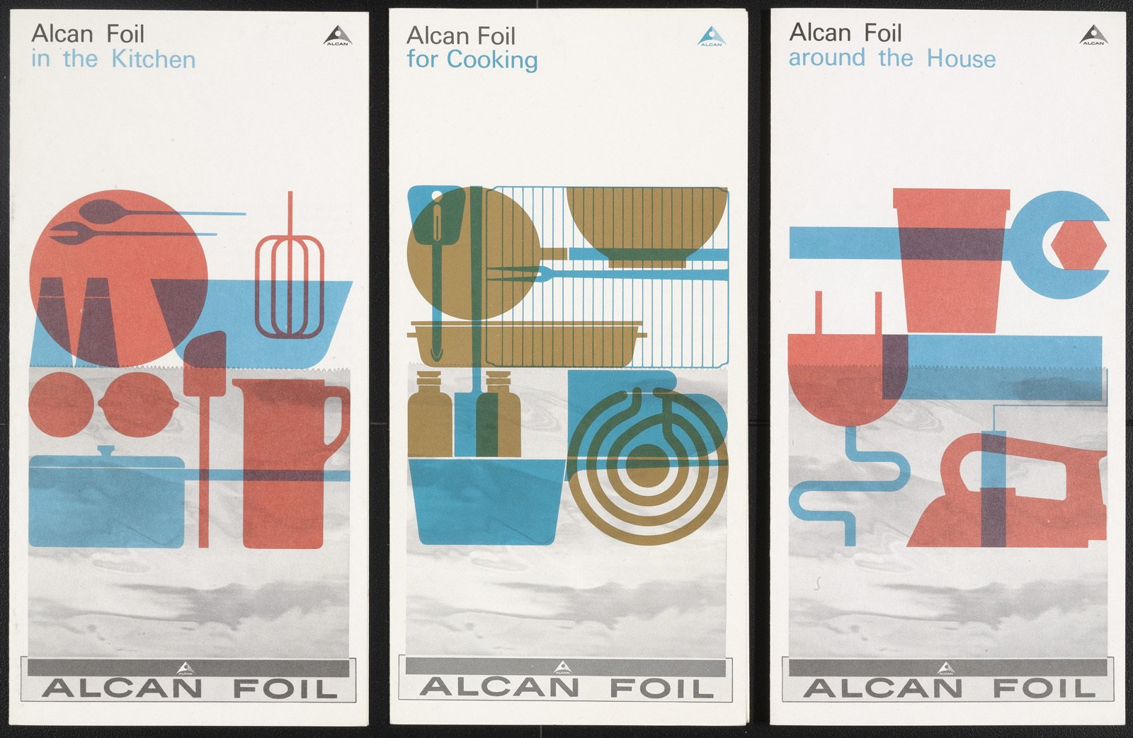 I love these brochures for Alcan Foil from the early 60s. There were designed by German Rolf Harder.  Counter Space Catalog by Aaron Britt