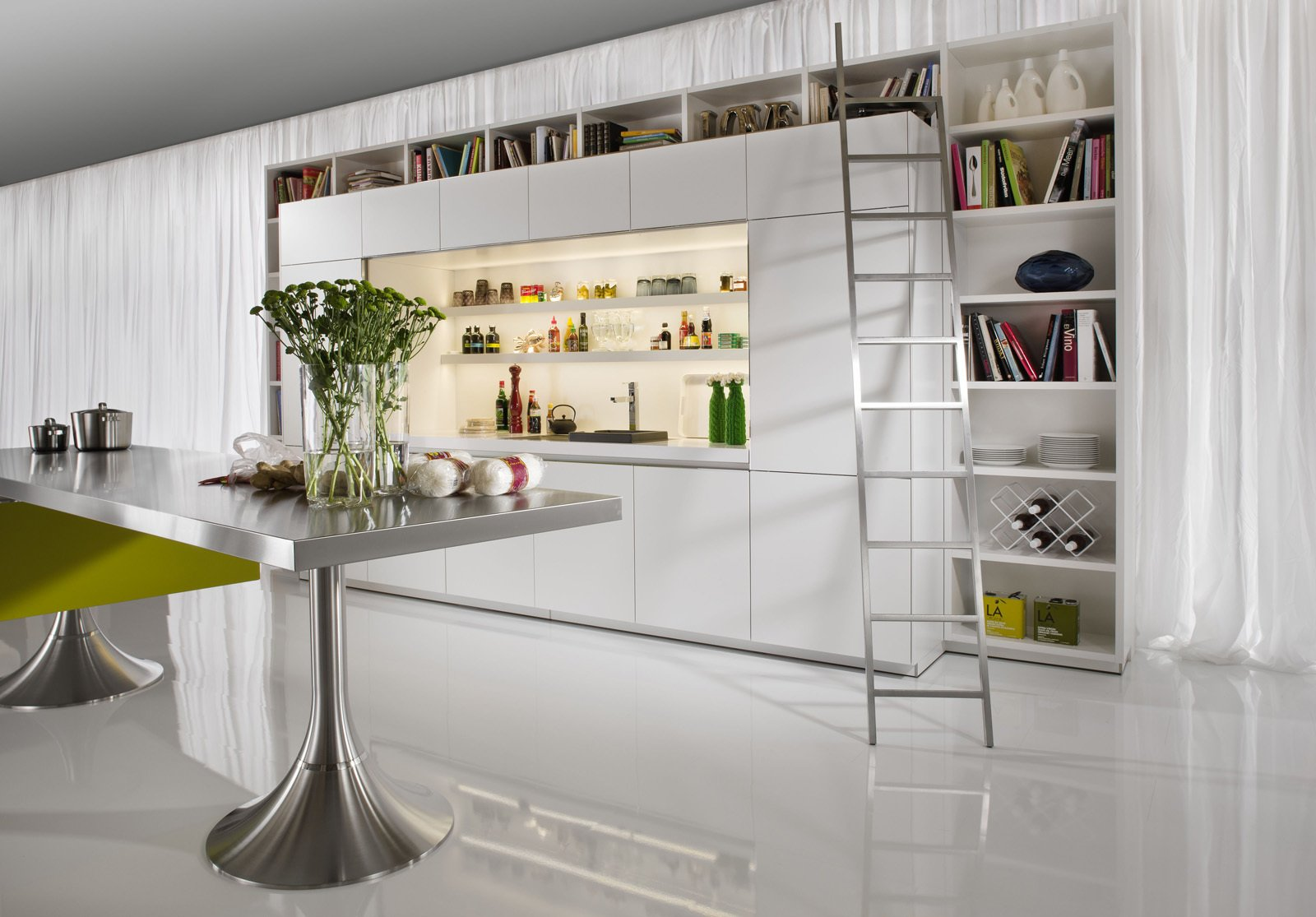 Philippe Starck's modern Library Kitchen won an imm Cologne 2011 Interior Innovation Award.  Photo 7 of 7 in Philippe Starck's Library Kitchen