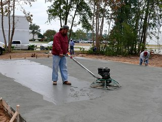 The concrete sets after just a few hours. Here, the foundation being finished. Photo ©2011 epic software group, inc.