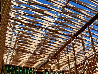 A beautiful shot of the roof's framing. Photo ©2011 epic software group, inc.
