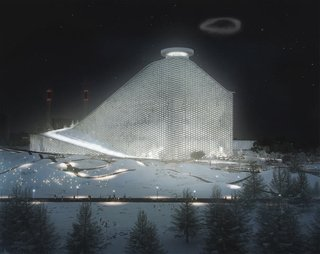 Copenhagen's future waste to energy plant designed by Bjarke Ingels.