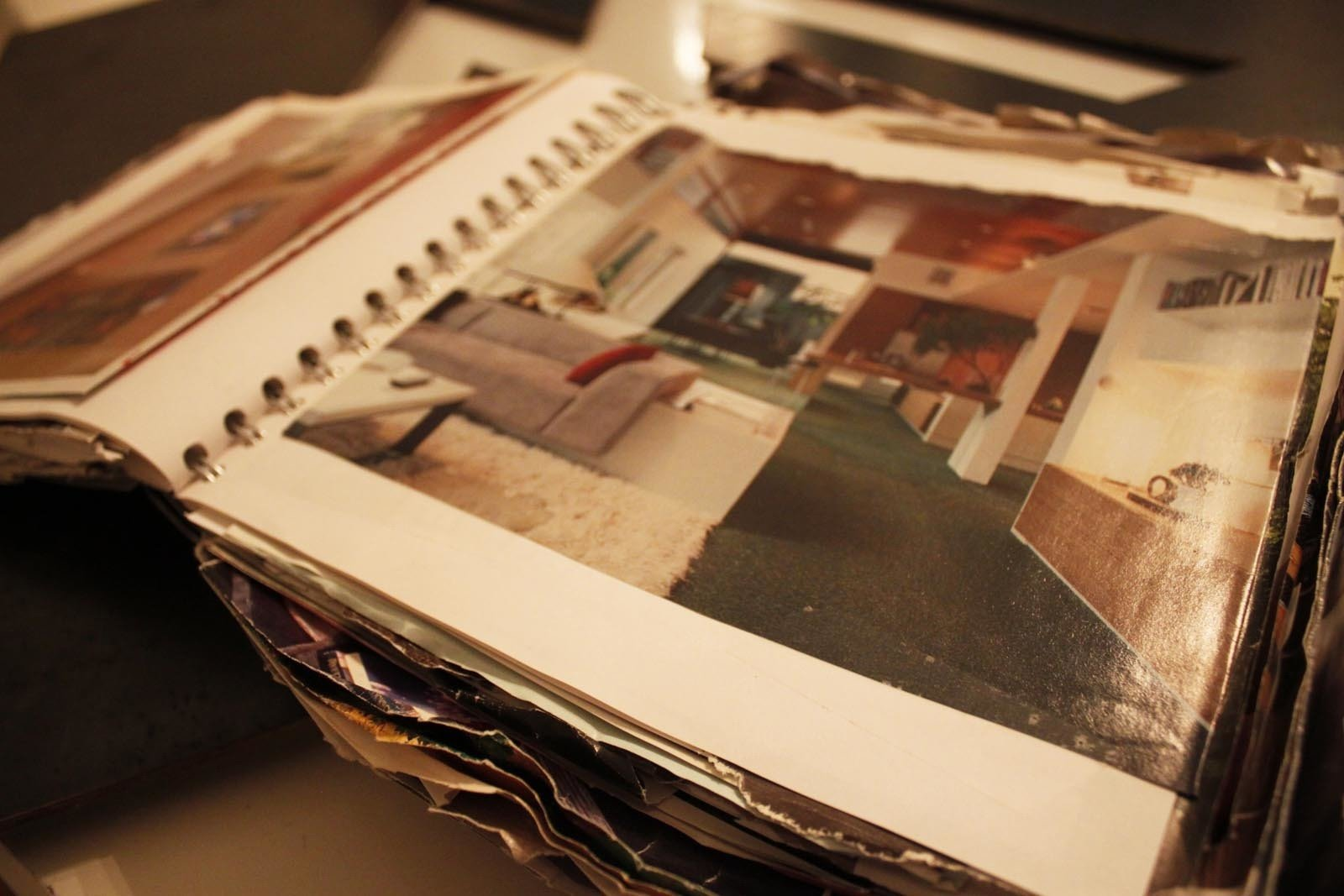 The first real stage of the process before and after we sold our house was to gather examples out of books and magazines of what we'd like to build. We started numerous notebooks and began to collect tear sheets out of design magazines.  Photo 4 of 10 in Building the Maxon House: Week 1