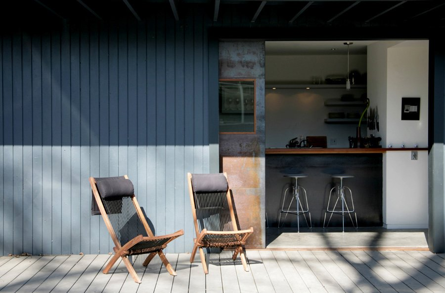Shoup chose Trex decking (which is made from reclaimed plastic and wood) for its environmentally friendly profile and ease of maintenance. Photo by building Lab inc.  Photo 6 of 11 in Creative Re-Use in Oakland