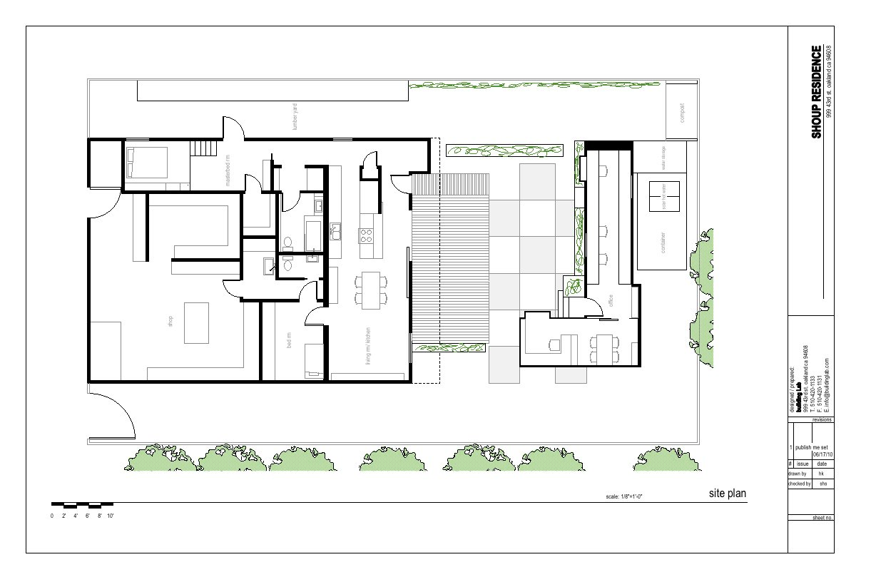 """The plan of the Shoup residence designed by Stephen Shoup of building Lab inc.""""  Don't miss a word of Dwell! Download our  FREE app from iTunes, friend us on Facebook, or follow us on Twitter!  Photo 11 of 11 in Creative Re-Use in Oakland"""