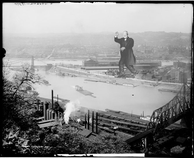 Andrew Carnegie ravaging Pittsburgh as seen on Alternate Histories.  Photo 1 of 4 in Friday Finds 3.25.11