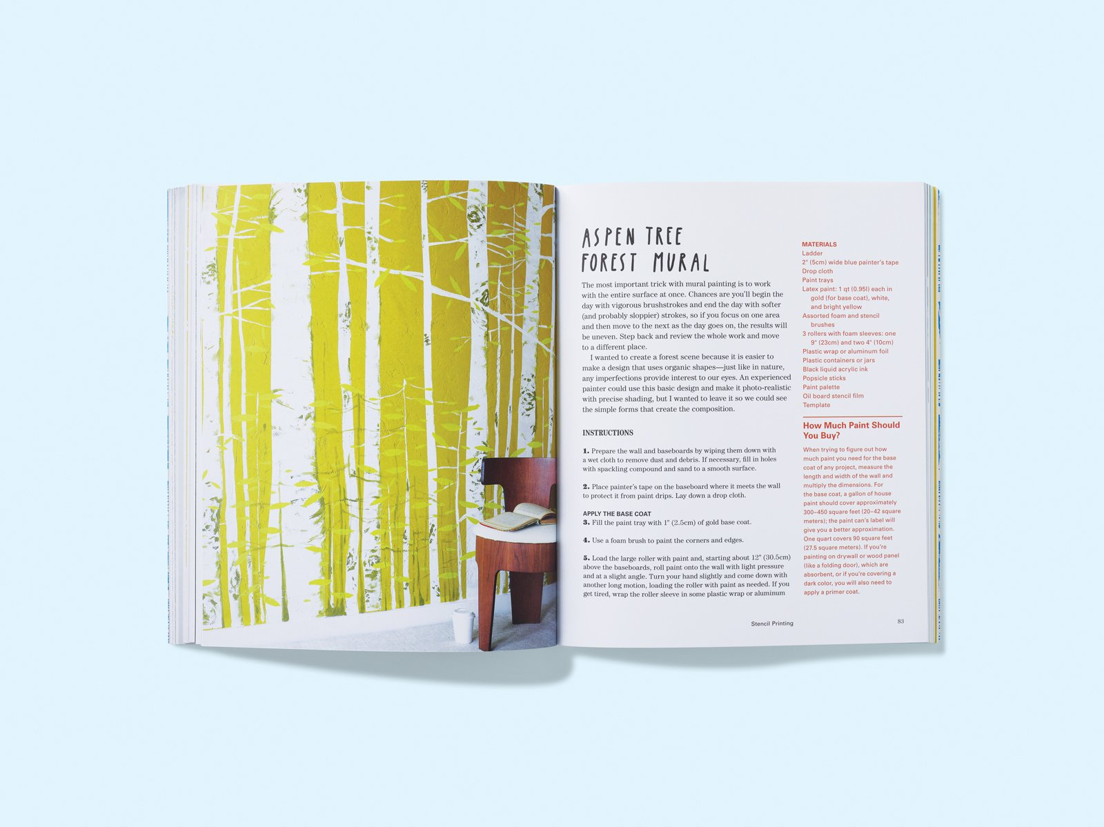 Print Workshop is a trove of fun DIY projects, including this beauteous Aspen Tree Mural.  Photo 1 of 3 in Print Workshop