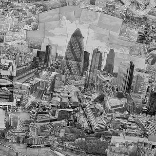 "…Norman Foster's ""Gherkin"" dominating the skyline...  Diorama Map London, 2010, Light jet print on Kodak Endura paper, 230 x 128 cm, © Sohei Nishino, Courtesy of Michael Hoppen Contemporary/ Emon Photo Gallery."