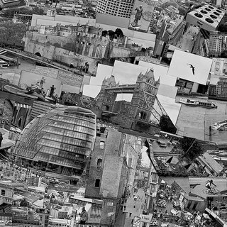 and the city's iconic Tower Bridge. After piecing all these together, the collage was then photographed as a whole to produce on final image.  Diorama Map London, 2010, Light jet print on Kodak Endura paper, 230 x 128 cm, © Sohei Nishino, Courtesy of Michael Hoppen Contemporary/ Emon Photo Gallery.