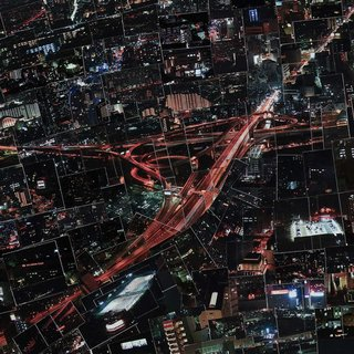 In his colored works, Nishino pieces together the cosmopolitan centers of different Japanese cities to form a surreal urban landscape.  Diorama Map Night, 2009/2010, Light jet print on Kodak Endura paper, 150 x 231 cm, © Sohei Nishino, Courtesy of Michael Hoppen Contemporary/ Emon Photo Gallery.  Don't miss a word of Dwell! Download our  FREE app from iTunes, friend us on Facebook, or follow us on Twitter!