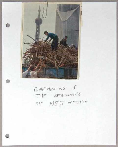 A fitting epigram for an architect, but for Studio Gang in particular: Gathering is the beginning of nest making.