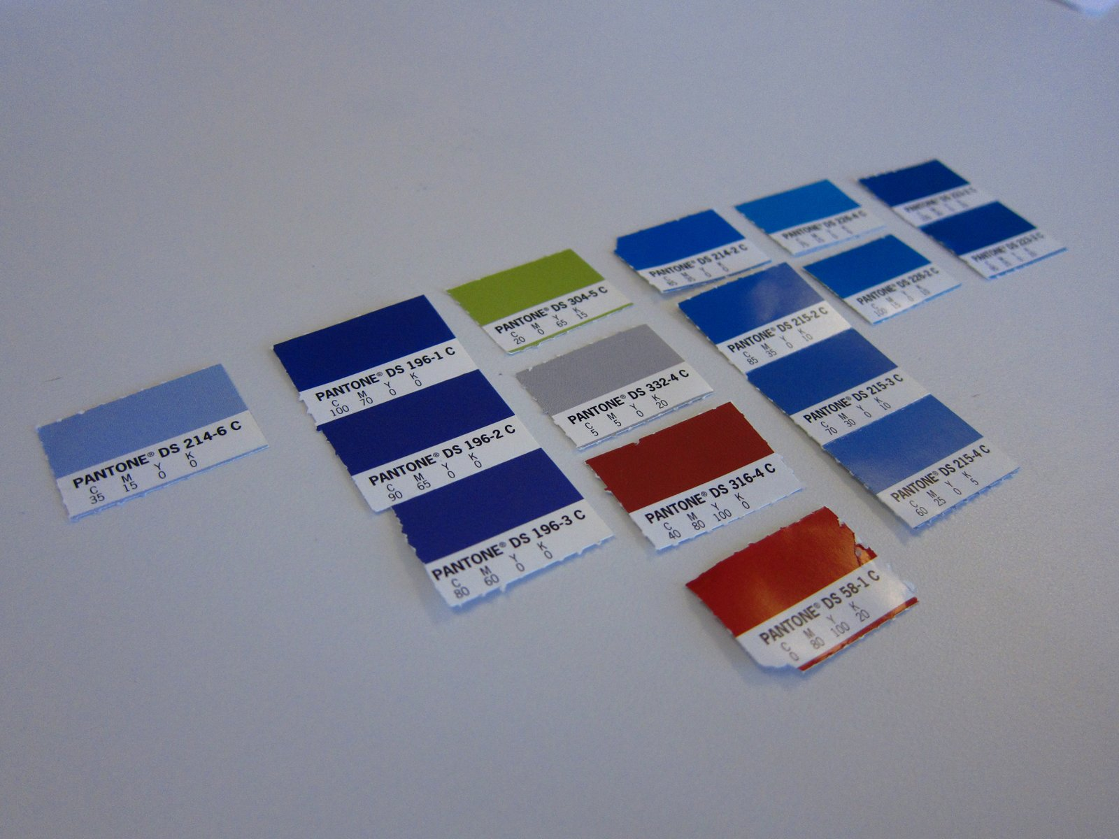 Color swatches were the starting point for the Kyle Blue rug.  Photo 1 of 8 in Friday Finds 4.01.11