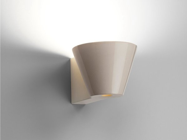 Also by Barber Osgerby and on display at the fair is the new Beaker Wall Lights for Flos.