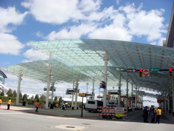 In 2005 a transit terminal was constructed in front of IFHC and has is the hub of a remarkably efficient and well-coordinated shuttle service. The structure is reminiscent of Buckminster Fuller's Octet Truss.