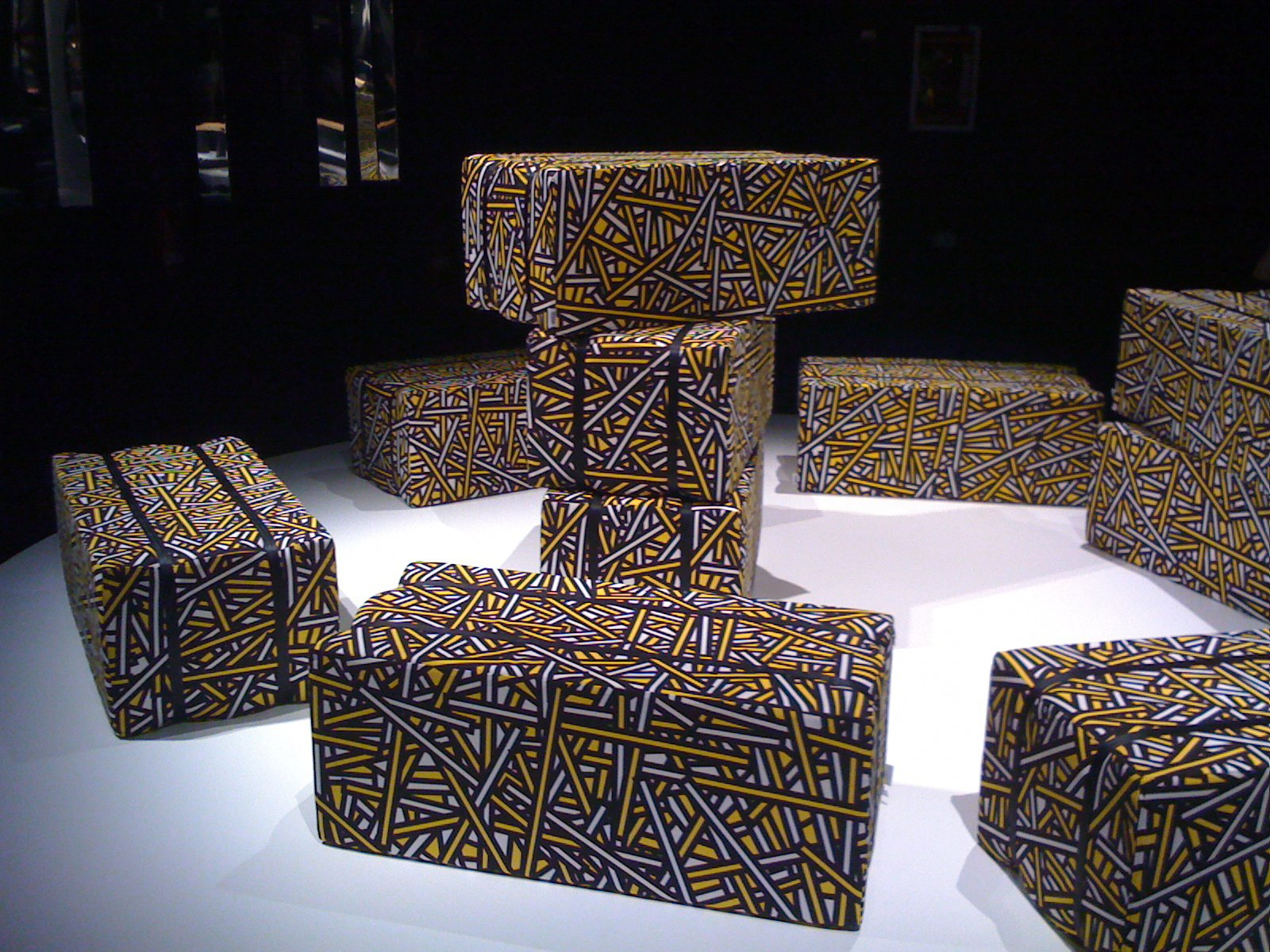 After lunch we traipsed over to the Teatro Versace to see a showcase of new designs from Established & Sons. Among the offerings was Haystack, a graphic and pliable seating option by Richard Woods and Sebastian Wrong.  Milan 2011: Day One by Amanda Dameron
