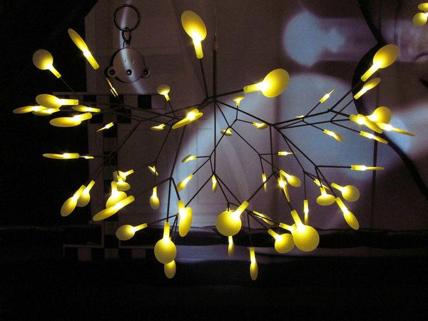 Bertjan Pot's new Heracleum LED pendant for Moooi was both highly futuristic and pleasingly organic.