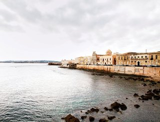 Gunnar Knechtel Photography, Italy, Sicily, Town: Syracuse, Island of Ortigia. The house of Francesco Moncada,Town houses and sea wall Syracuse Sicily. Syracuse is famous for its rich Greek history culture amphitheatres architecture and as the birthplace of Archimedes photographed on the 27+28,12.2010 for Dwell Magazine