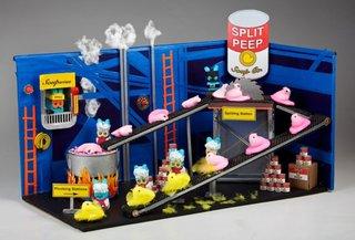 "The ""Chilean CoPeepapo Mine Rescue"" that won the Washington Post's recent diorama contest."