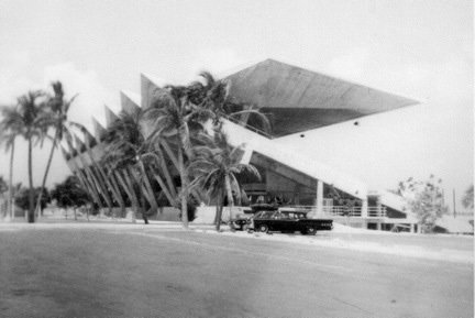 Here's what the stadium looked like shortly after construction. Photo courtesy Bramson Archive.  Preserving the Miami Marine Stadium by Rob Jordan