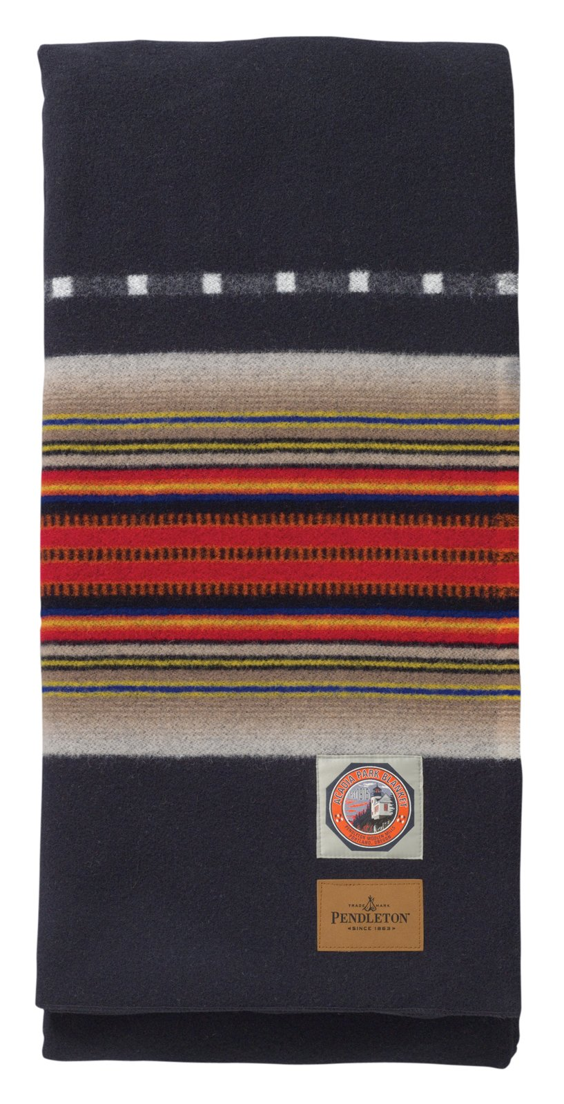 This blanket for Acadia National Park in Maine somehow seems the least modern to me. Though perhaps as an accent to some really clean, spartan interior it could work well.  Pendleton's Park Blankets by Aaron Britt