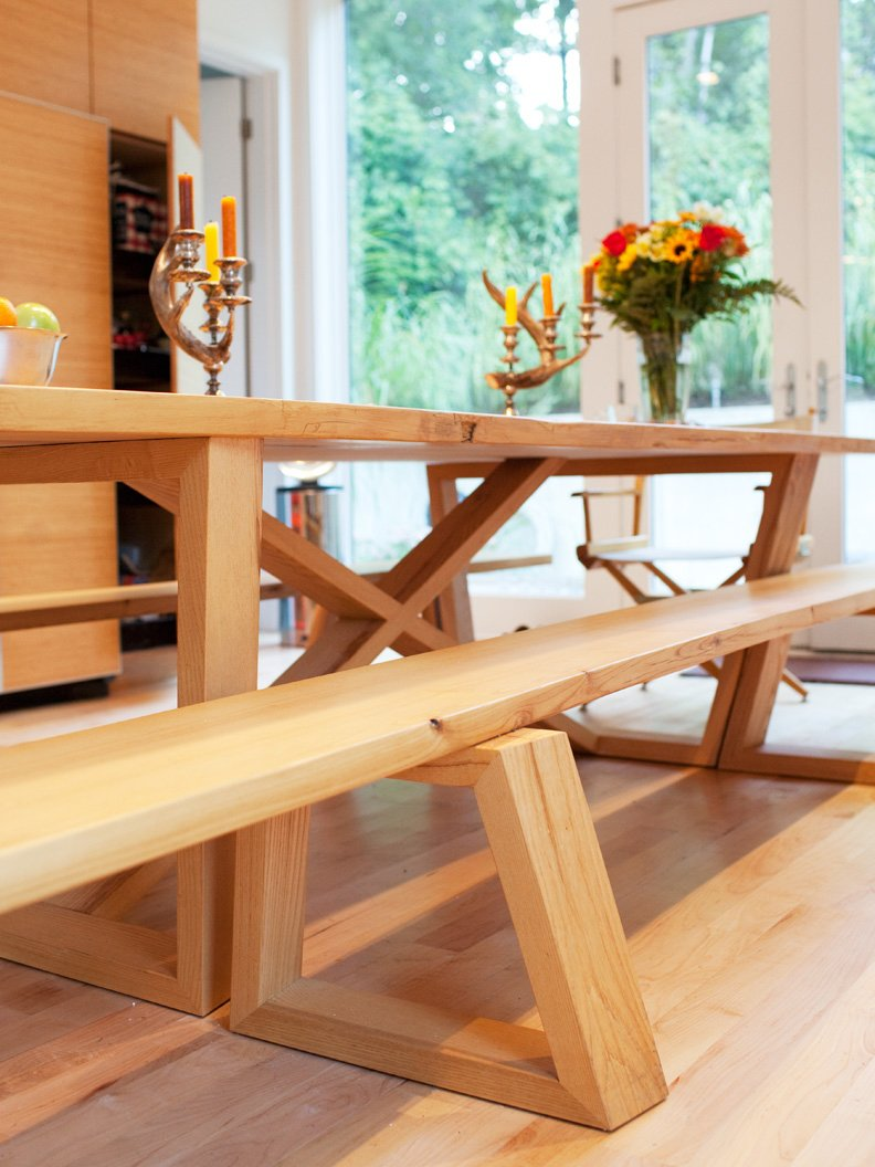 Dining Room and Table A closer look at the dining table and bench joinery.  Photo 21 of 25 in Come Sail Away