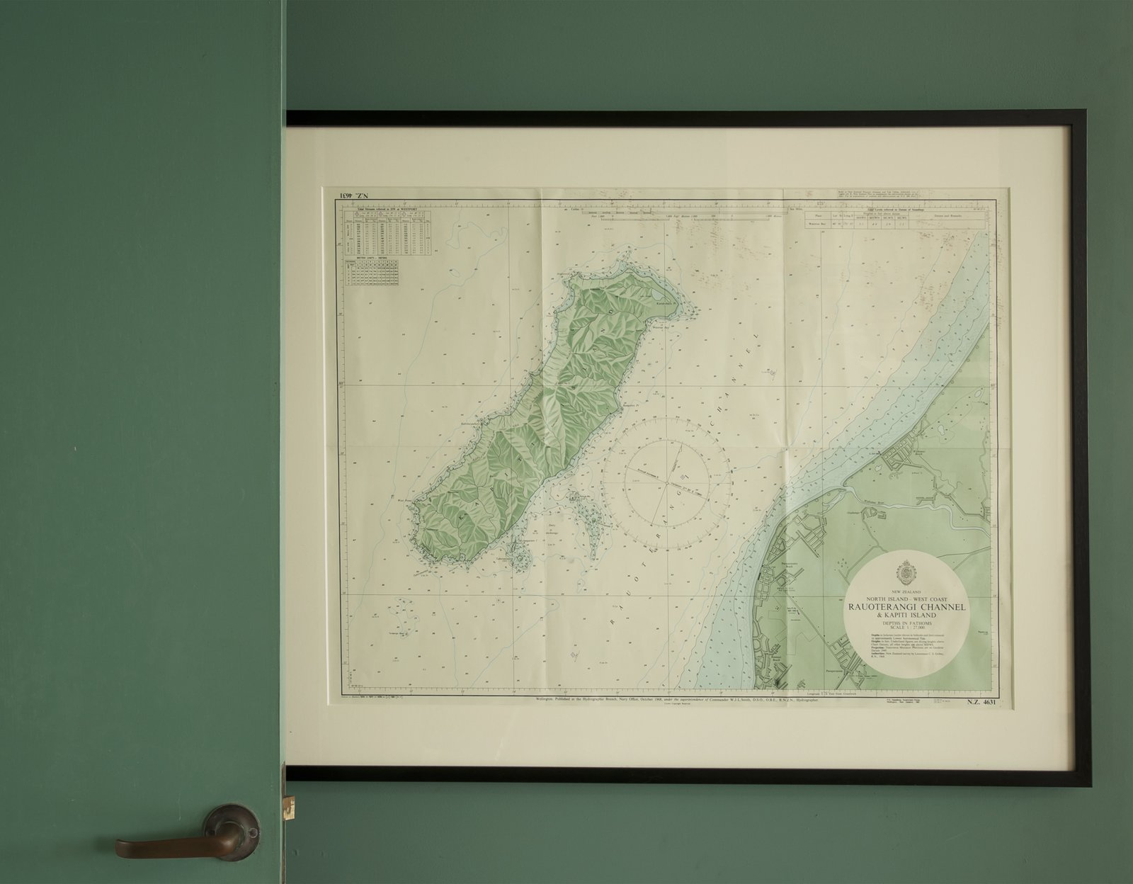 A topographic map of Kapiti Island hangs in the tower.  Photo 27 of 30 in Bach to the Beach