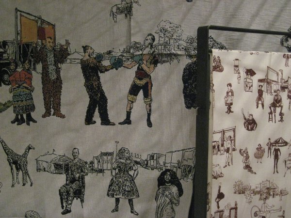 Sideshow! textiles by Richard Saja at The Future Perfect.