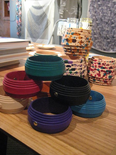 The ground floor housed the Sight Unseen pop-up shop. I was eying these really lovely leather bangles by Study O Portable.