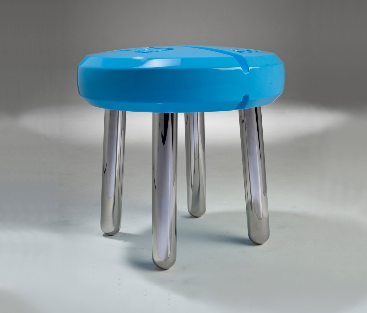 A pill shaped stool represents China's diminishing lack of connection to their environment using the influx of modern pharmaceuticals as a metaphor. A generation ago, the only medical treatments were traditional Chinese medicine consisting of natural ingredients, but now there is an overwhelming pharmaceutical industry.  Photo 6 of 8 in Chris Hardy Design
