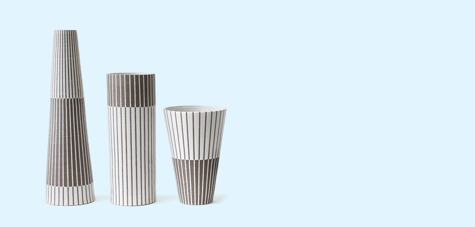 Three of Adler's ceramic designs.  Jonathan Adler by Jordan Kushins