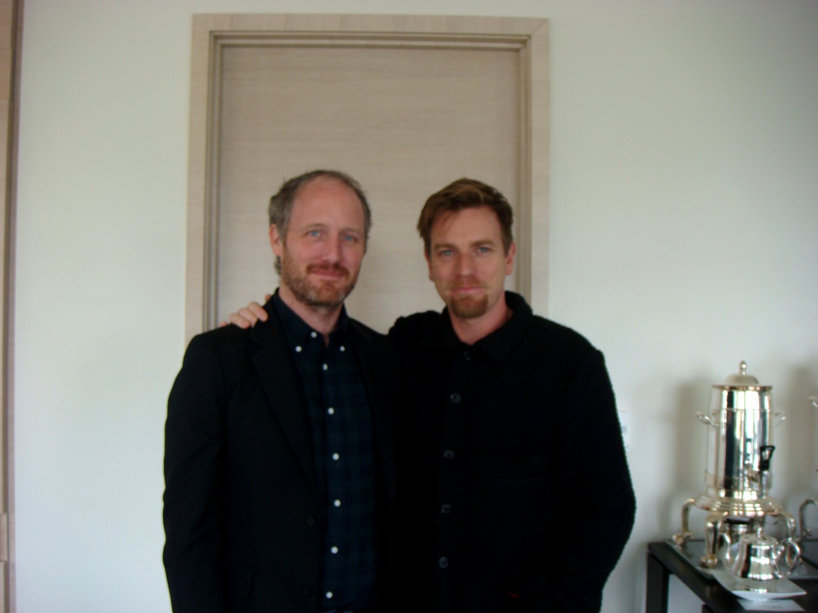 """Mike Mills and Ewan McGregor at the St. Regis Hotel in San Francisco, where our interview took place.  Photo 1 of 6 in Mike Mills and Ewan McGregor on """"Beginners"""""""