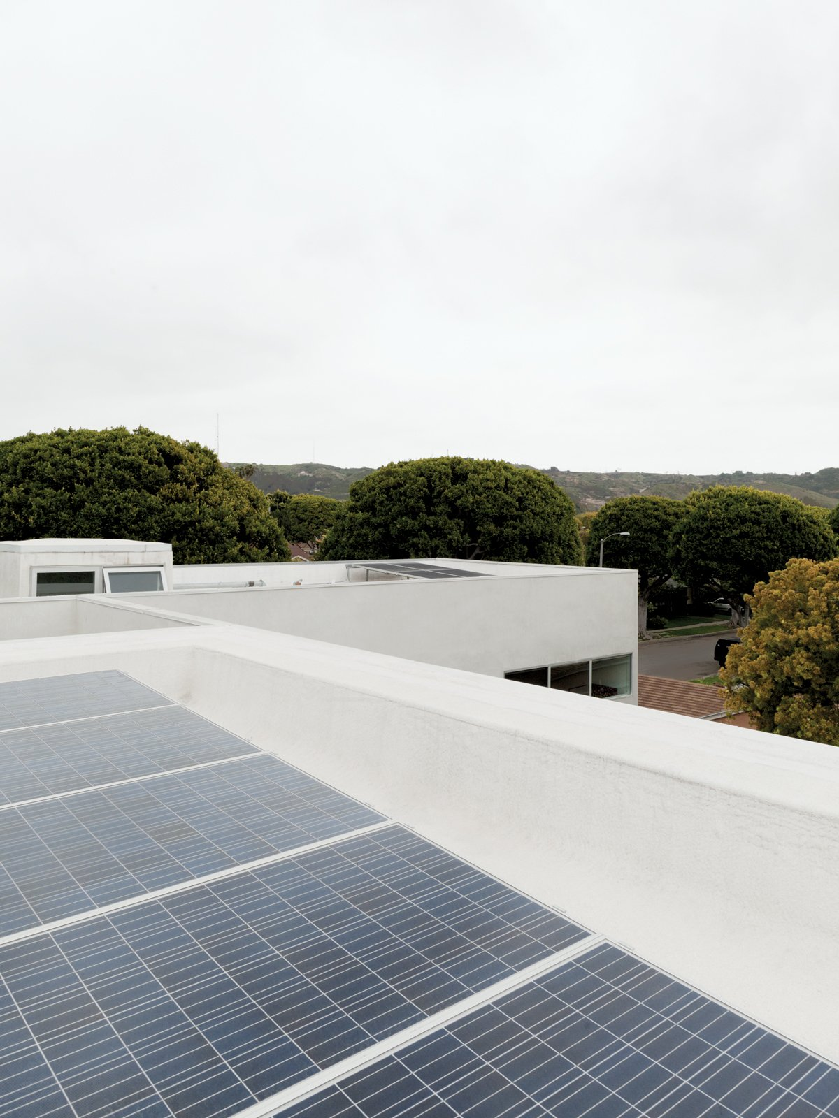 The roof features a cool roof, which reflects heat back to the sky rather than having it absorbed into the house, and 26 solar panels that often cause the meter to roll backward.  Photo 13 of 13 in A Dream House for the Ages