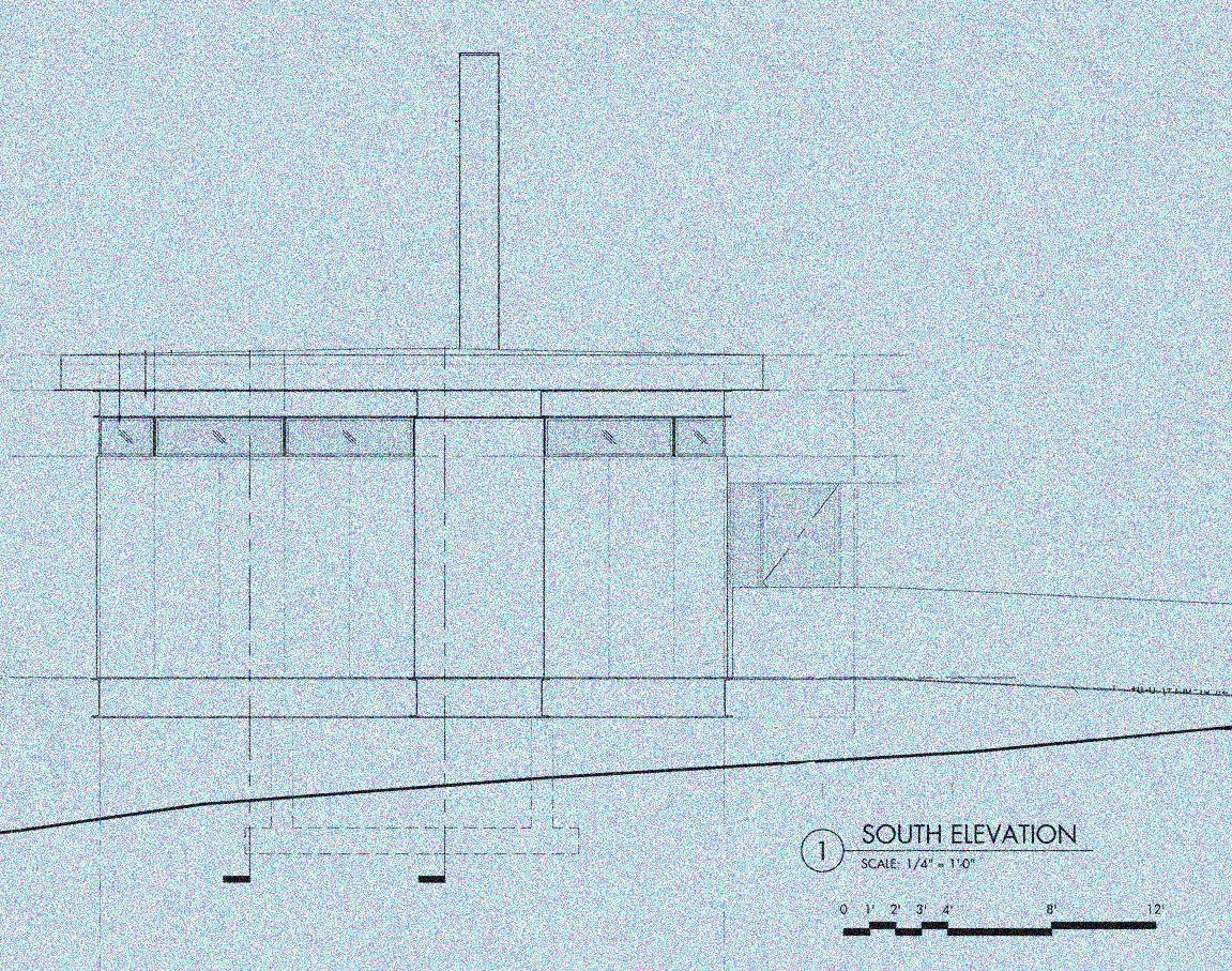 An exterior elevation of the proposed residence during the schematic phase of the project.  Photo 9 of 10 in Building the Maxon House: Week 16