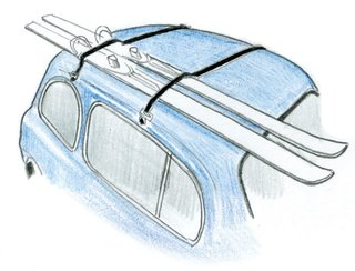 1950  Kartell debuts its first product: the K101 Ski Rack by Carlo Barassi and Roberto Menghi.