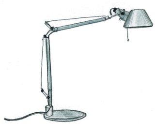 1986  Michele de Lucchi and Giancarlo Fassina design Tolomeo lamp.