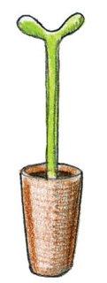 1993  Stefano Giovannoni designs Merdolino toilet brush for Alessi.