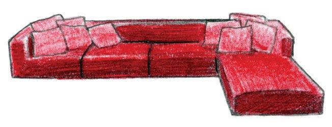 """2006  Carlo Colombo designs the rectilinear Shanghai sofa system.  Search """"joe colombo 4801 armchair"""" from Un'Introduzione al Disegno Italiano"""
