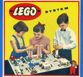 Vintage ads abound in A Graphic History of LEGO Packaging.