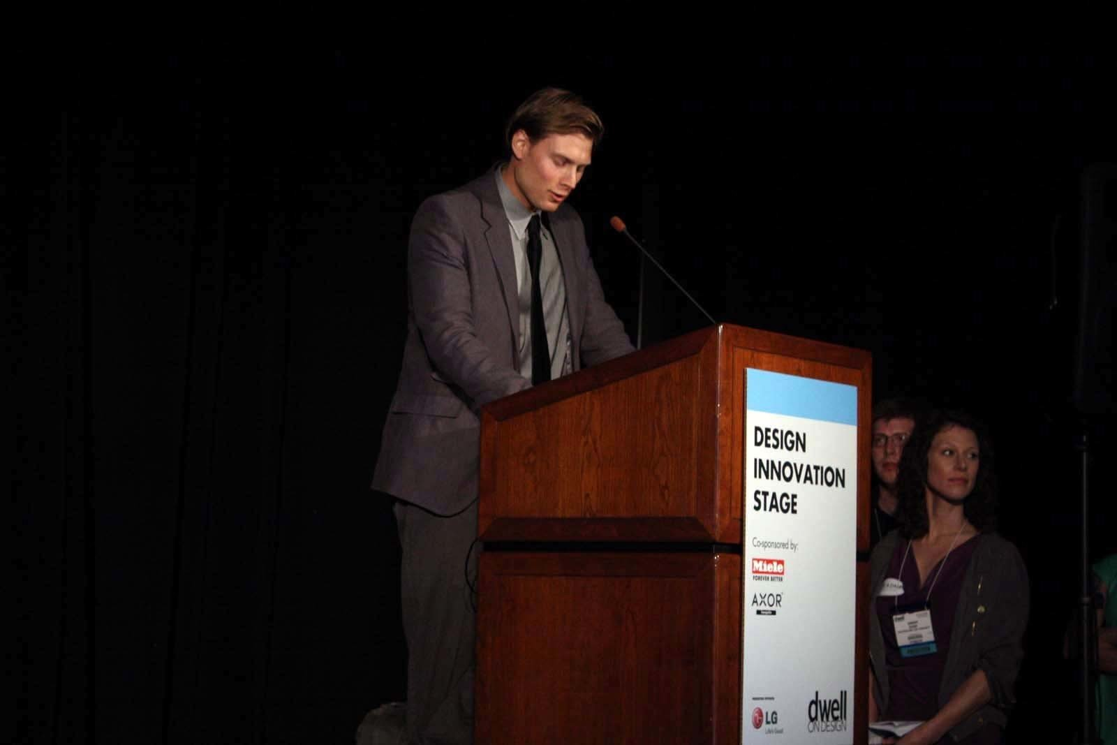 Architect Gavin Studer of the Mossy Foot Project.  Photo 2 of 7 in From the Show Floor: Pecha Kucha