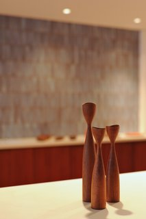 A comely trio of Dansk candle holders.